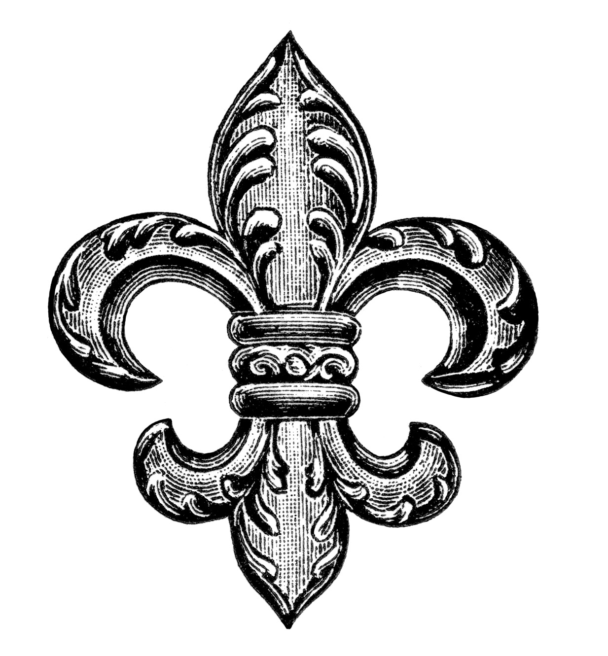 Free clipart fleur de lis png black and white Free Fleur De Lis, Download Free Clip Art, Free Clip Art on Clipart ... png black and white
