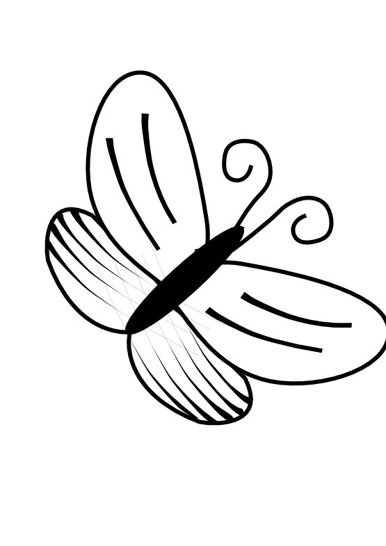 Download best . Free clipart flower and butterfly black and white