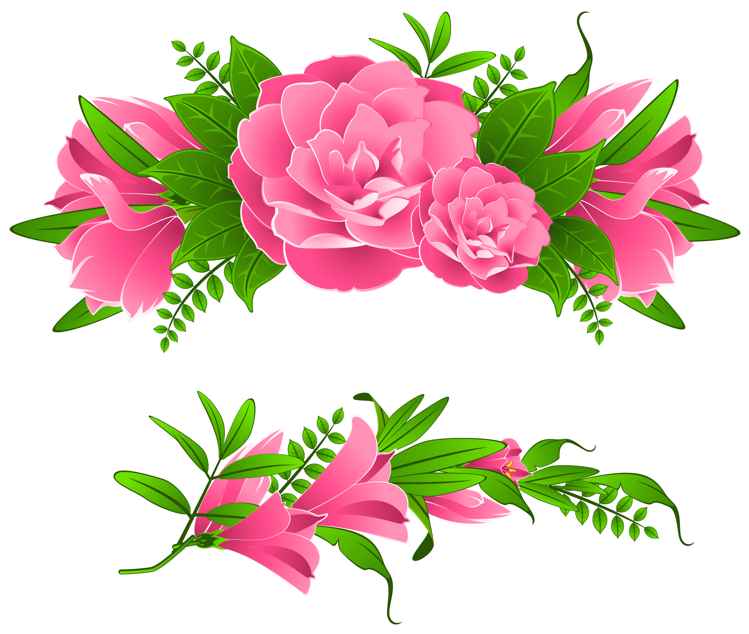 Free clipart flower borders picture freeuse library 4 2 Flowers Borders Free Png Image picture freeuse library