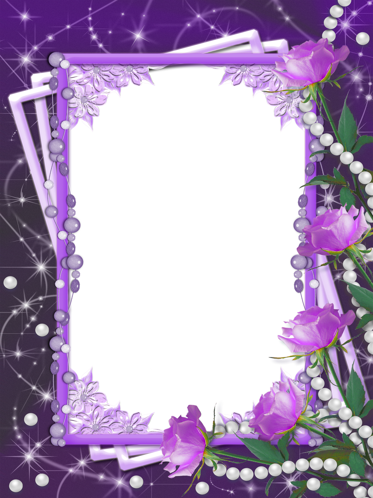 Free clipart flower borders picture royalty free library Transparent Purple Flower Frame | Gallery Yopriceville - High ... picture royalty free library