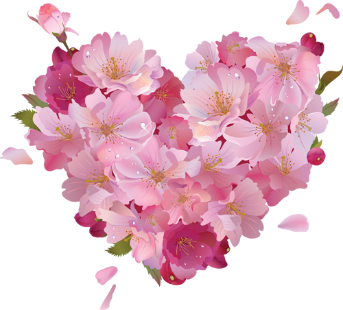 Free clipart flowers hearts clipart black and white stock Pink_Flower_Heart_Clipart.png?m=1371679200 clipart black and white stock