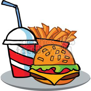 Free clipart food and drink image Fast Food Cheeseburger Drink With French Fries clipart. Royalty-free ... image