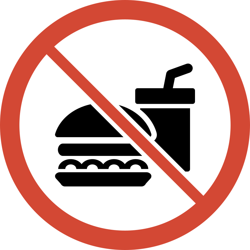 No food or drink clipart graphic Free Clipart: No Food or Drink Sign | libberry graphic