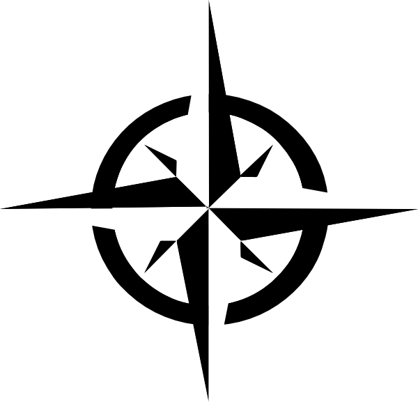 Free clipart for a compass with cross. White rose clip art