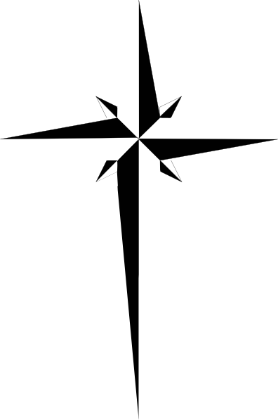 Clip art vector online. Free clipart for a compass with cross