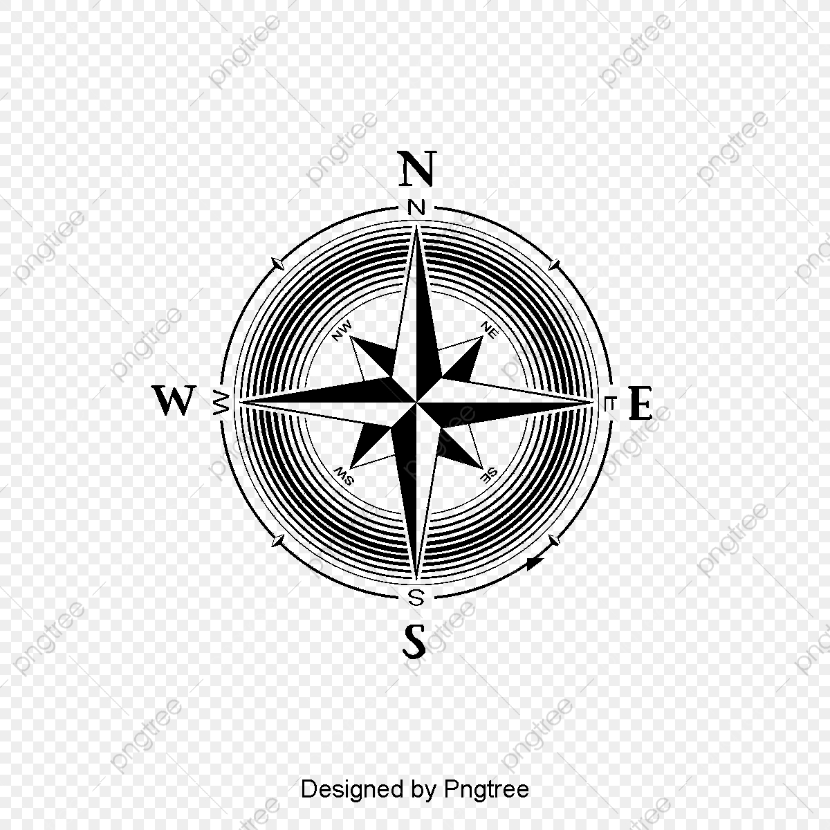 Hand painted wild adventure. Free clipart for a compass with cross
