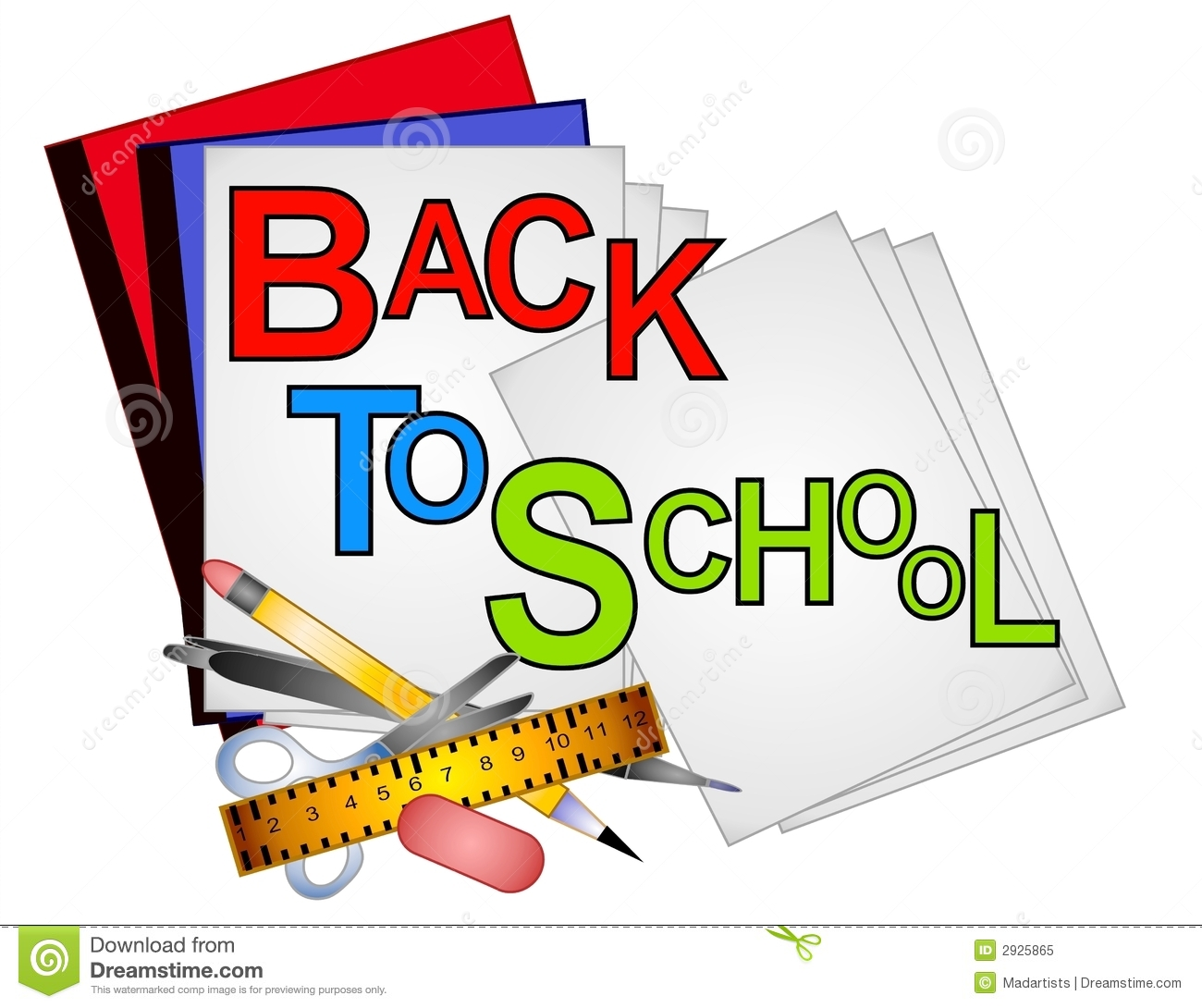 Free clipart for back to school supplies banner royalty free 32+ Clip Art School Supplies | ClipartLook banner royalty free