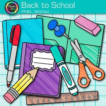 Free clipart for back to school supplies graphic freeuse stock Back to School Clip Art - School Supplies Clip Art - Free Clip Art ... graphic freeuse stock