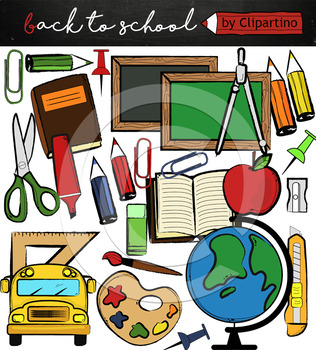 Free clipart for back to school supplies clipart royalty free Back to school supplies FREE clipart, commercial use ok clipart royalty free
