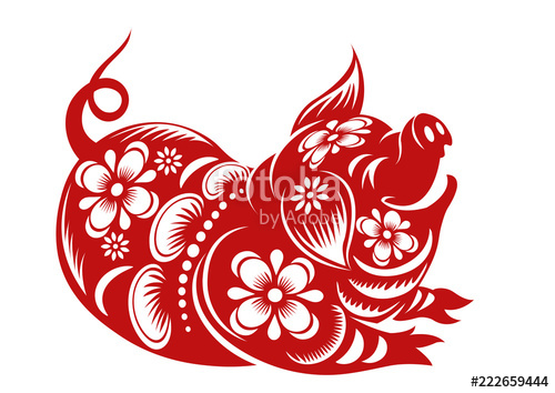 Free clipart for chinese new year 2019 clip art transparent library Chinese Zodiac Sign Year of Pig,Red paper cut pig,Happy Chinese New ... clip art transparent library