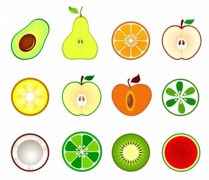 Free clipart for commercial use open half appl. Fruit cut in vector
