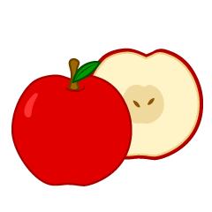 Free clipart for commercial use open half appl. Cut apple cliparts download