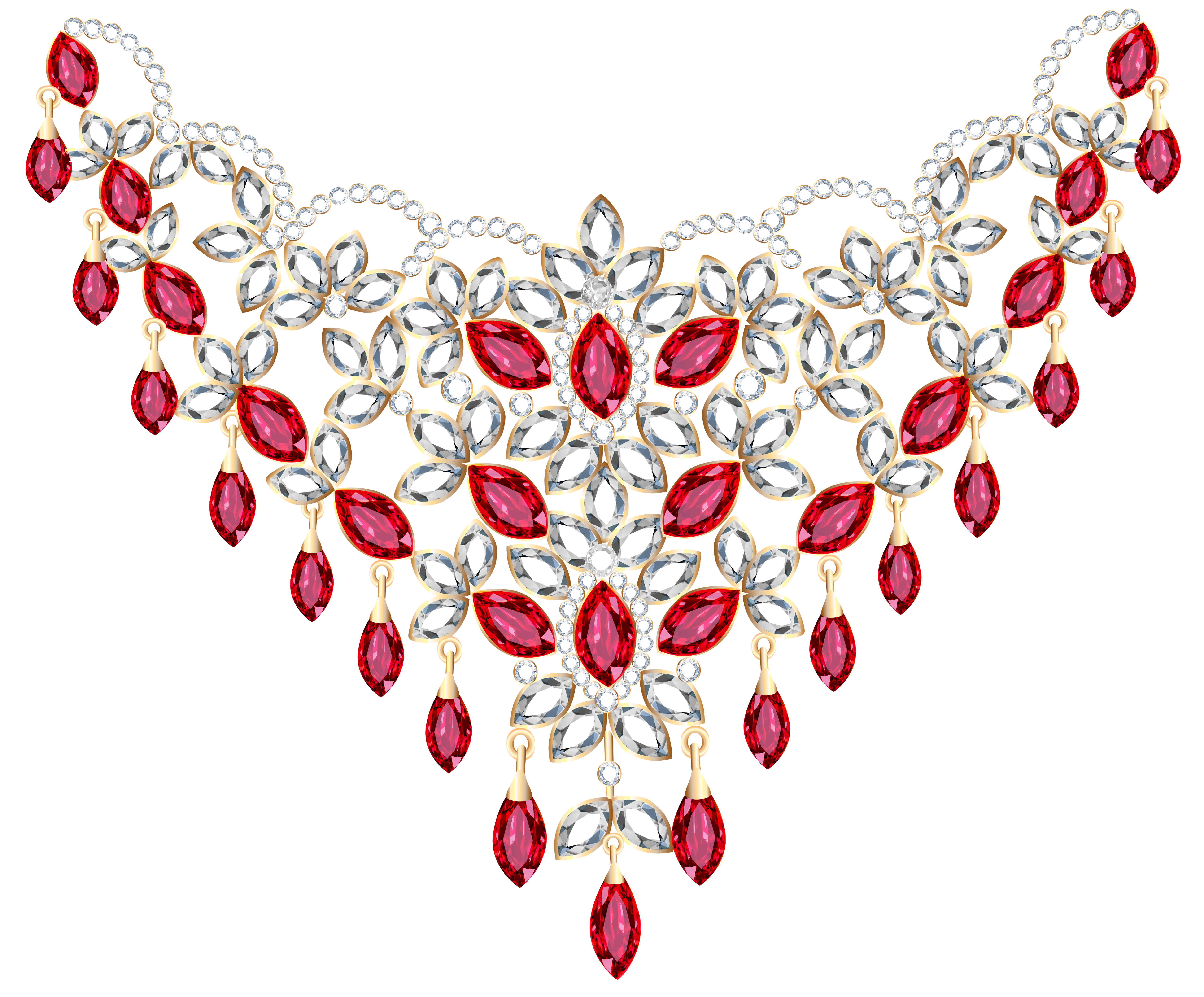 Free clipart for download jpg free stock Transparent Diamond and Ruby Necklace PNG Clipart | Gallery ... jpg free stock