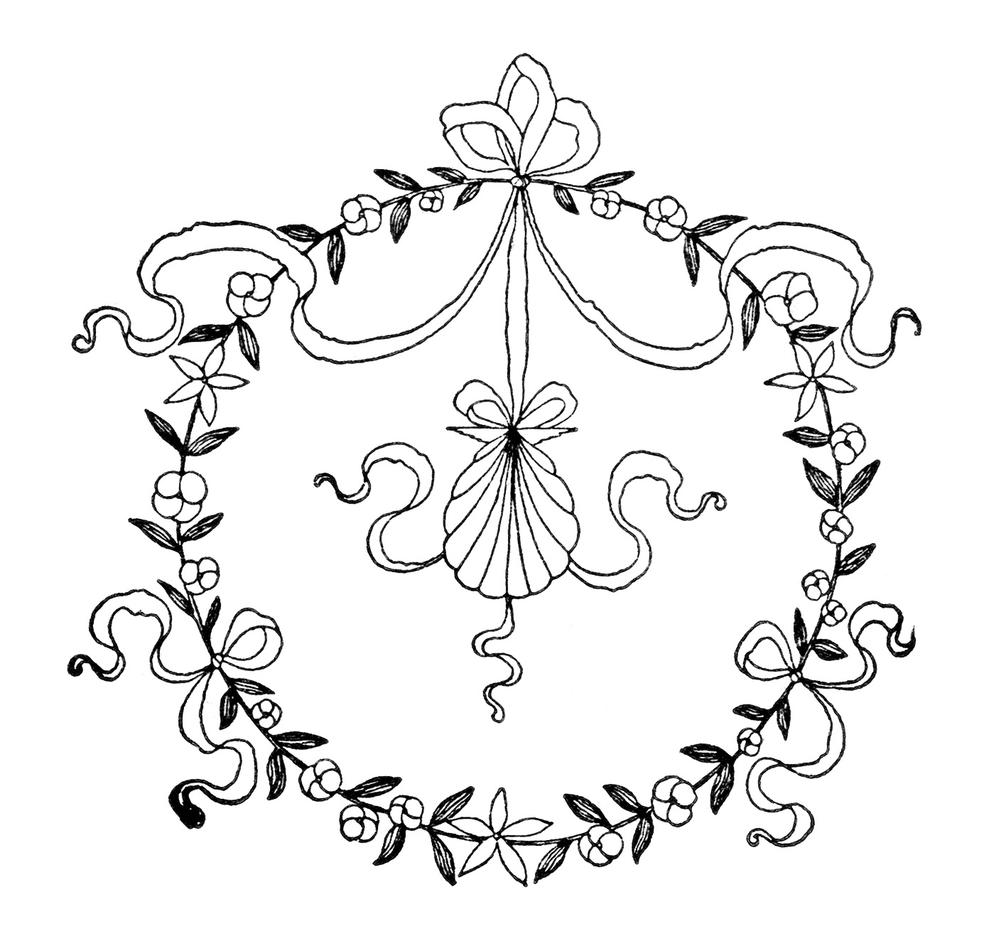 Vintage designs old design. Free clipart for embroidery