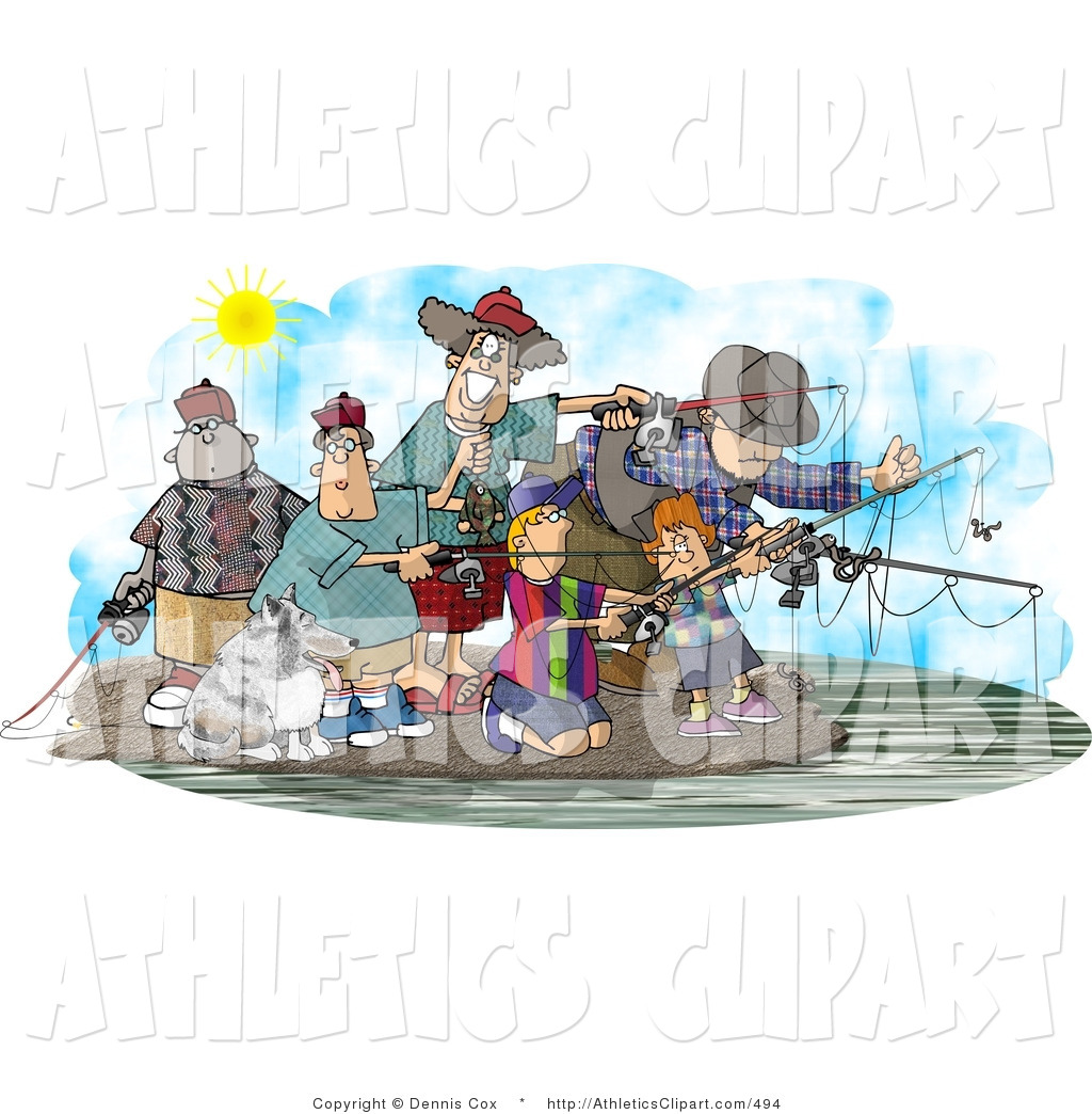 Free clipart for family and friends day jpg royalty free Clip Art of Family and Friends Fishing Together at a Lake on a Nice ... jpg royalty free