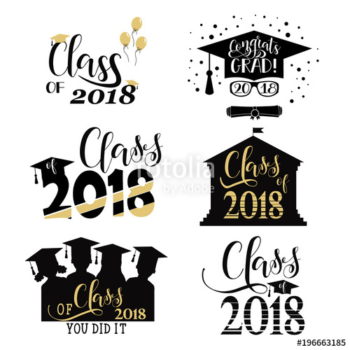 Graduation clipart 2018 free picture freeuse download Download graduation posters class of 2018 clipart Graduation ... picture freeuse download