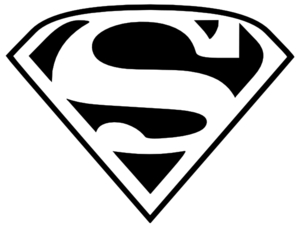 Free clipart for logo png black and white library Superman Clipart | Clipart Panda - Free Clipart Images png black and white library