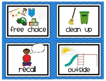 Free clipart for preschool daily schedule image transparent stock Preschool / Pre-K Daily Visual Schedule Cards By Klooster\'s Kinders ... image transparent stock