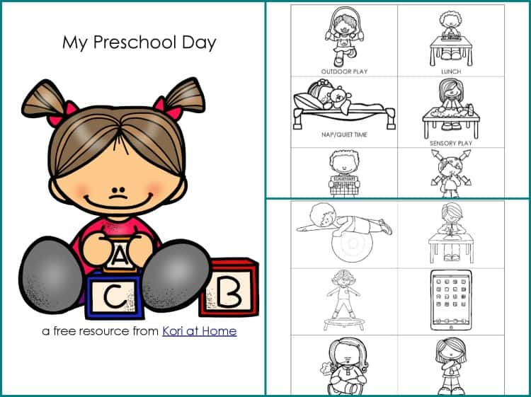Free clipart for preschool daily schedule banner library stock Free Printable Preschool Schedule banner library stock