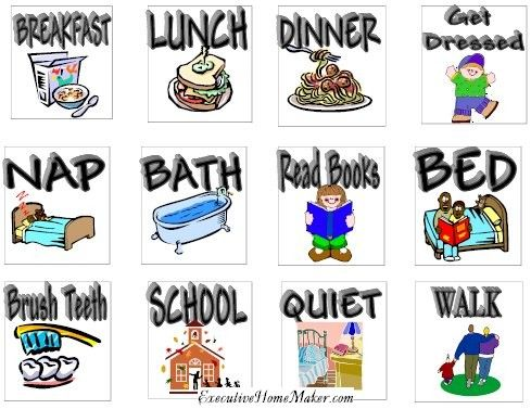 Free clipart for preschool daily schedule clip library stock Daily Schedule Pictures | Therapy | Charts for kids, Kids schedule ... clip library stock