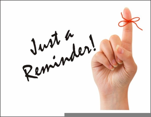 Just a reminder images. Free clipart for reminders