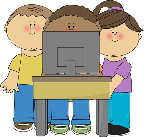 Free clipart for school use png library download Kids using a school computer from MyCuteGraphics | School Kids ... png library download