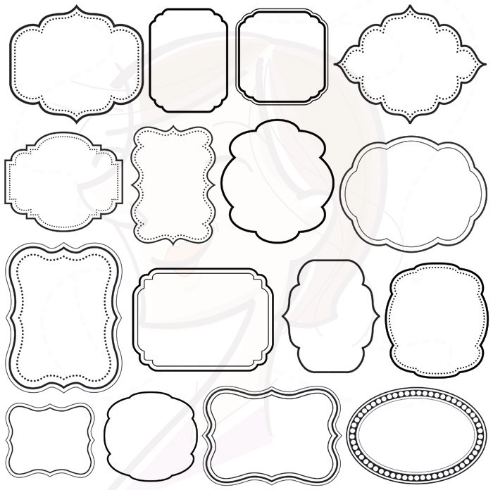 Free clipart for teachers for commercial use clipart black and white library Digital Scrapbook Frames Download VECTOR Clip Art Commercial Use ... clipart black and white library
