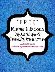 Free clipart for teachers for commercial use svg black and white stock FREE polka-dot frames to use for your classroom or your commercial ... svg black and white stock