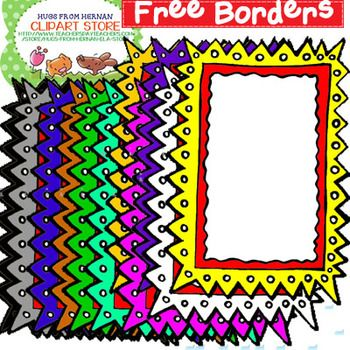 Free clipart for teachers for commercial use vector library library 12 Free Borders for Personal and Commercial Use | TPT Pinning ... vector library library