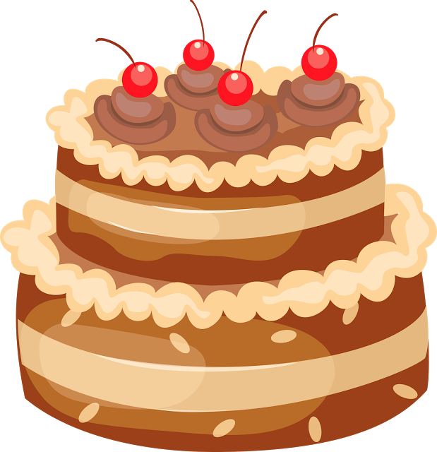 Free clipart for thanksgiving cake decorations vector library stock Happy Birthday Wishes Greetings Clipart Cake With Candles | Good ... vector library stock