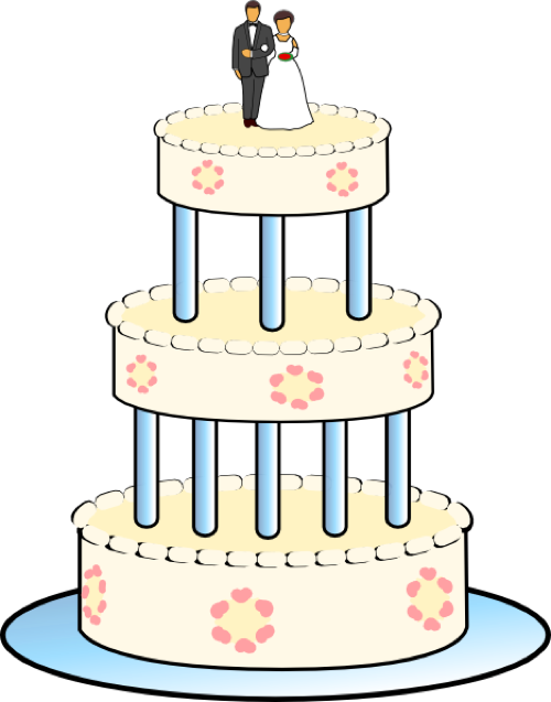 Free clipart for thanksgiving cake decorations picture freeuse library Wedding Cake Clipart - Free Graphics for Weddings picture freeuse library