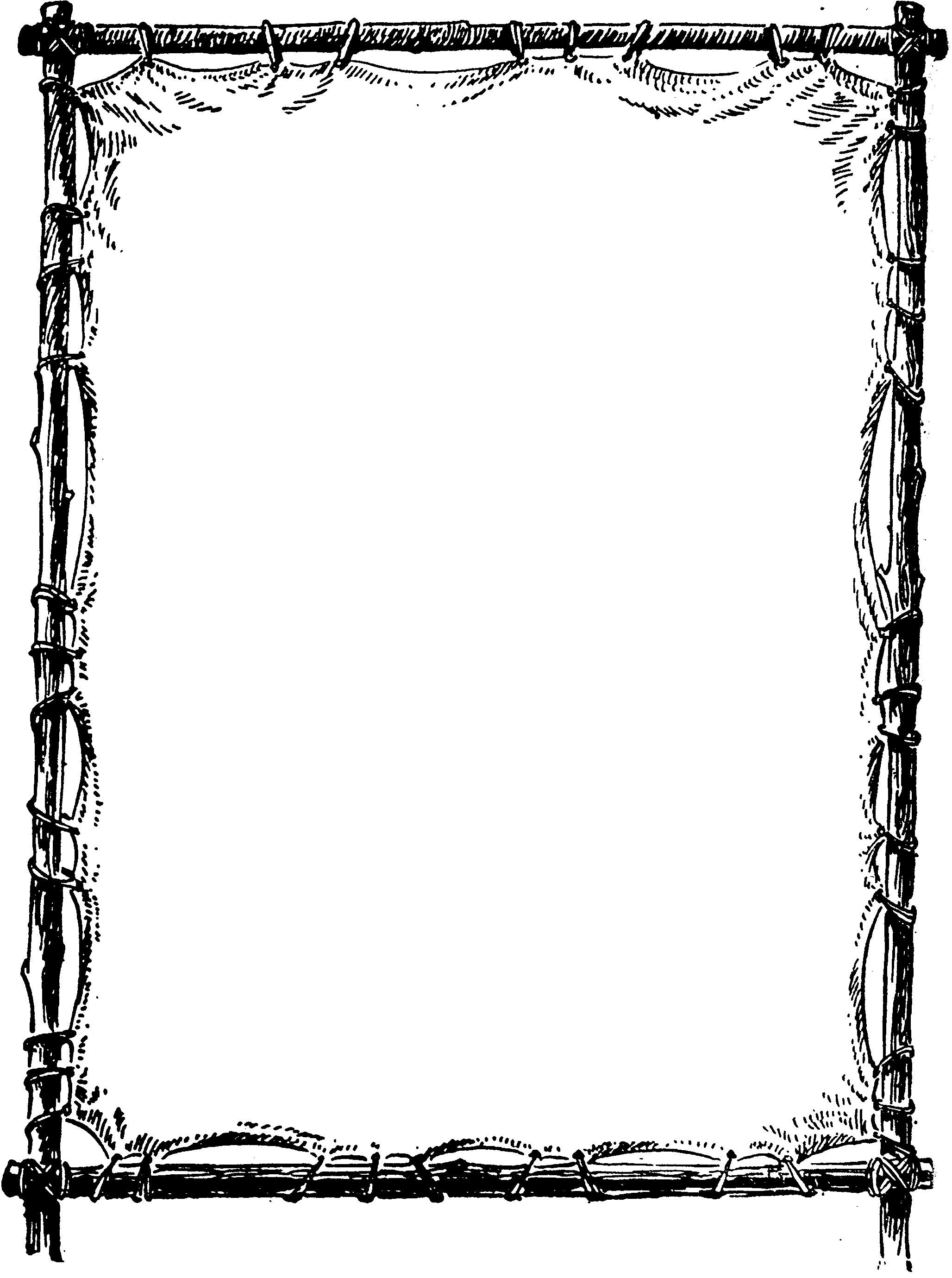 Free clipart for word documents image black and white Image result for frames templates for word documents | flower | Page ... image black and white