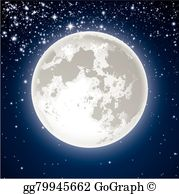 Free clipart full moon vector royalty free A Full Moon Clip Art - Royalty Free - GoGraph vector royalty free