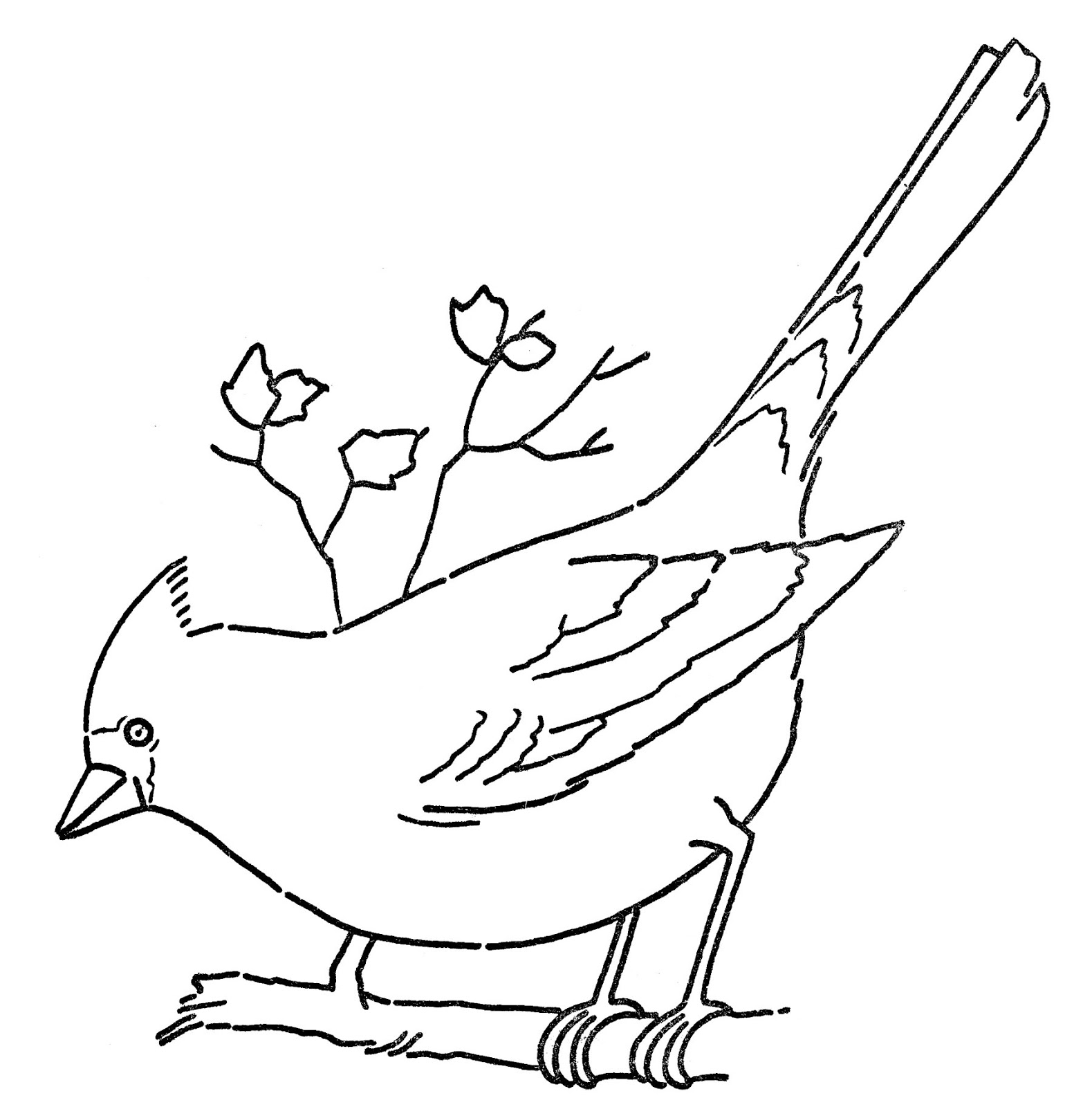 Free clipart generic bird images black and white vector library library Free Free Cardinal Clipart, Download Free Clip Art, Free Clip Art on ... vector library library