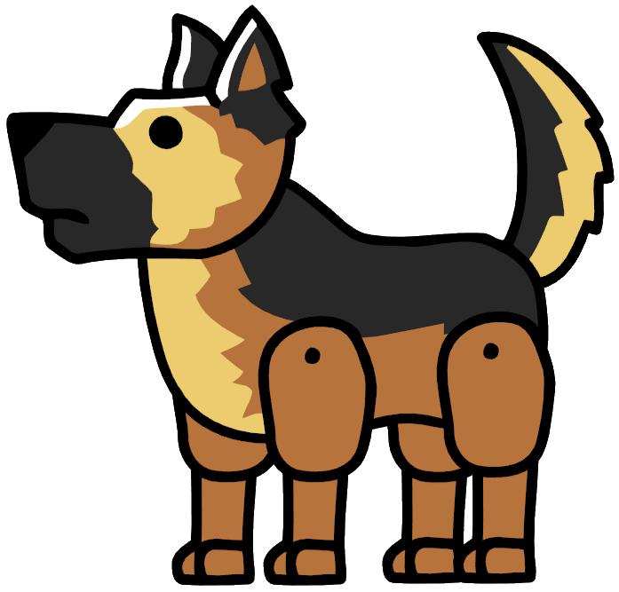 Free clipart german shepherd dog clipart free stock German Shepherd | Scribblenauts Wiki | FANDOM powered by Wikia clipart free stock