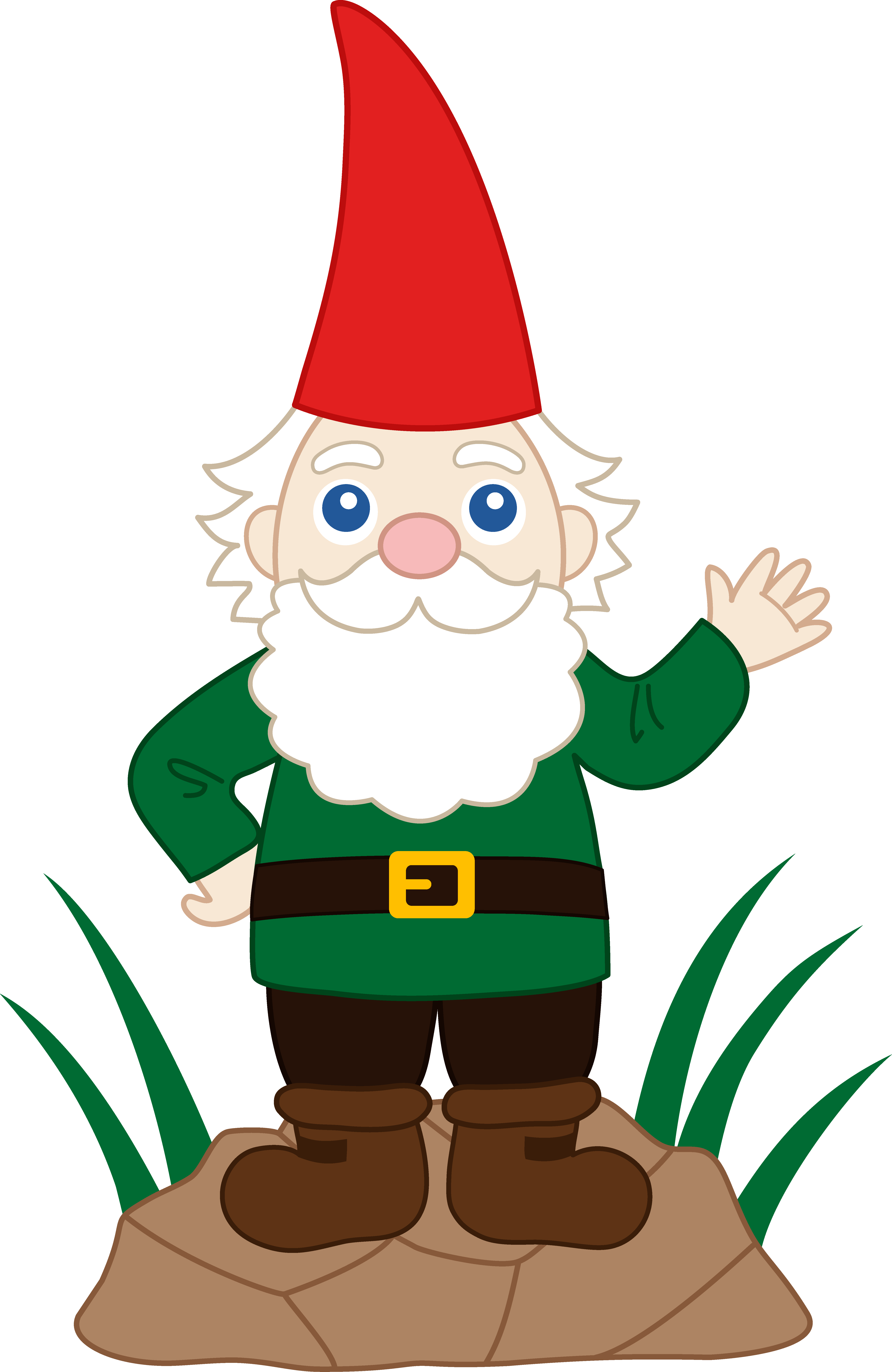 Free clipart gnomes clip art freeuse Friendly Garden Gnome - Free Clip Art clip art freeuse