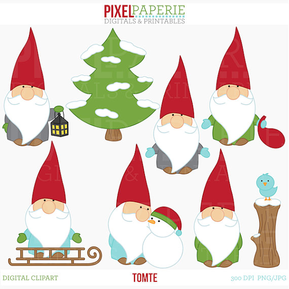 Free clipart gnomes banner download tomte nisse tomtenisse santa gnome clipart digital clip art - Tomte ... banner download