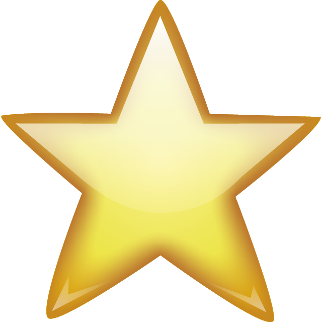 Star emoji clipart picture library Golden Star PNG Image - PurePNG | Free transparent CC0 PNG Image Library picture library