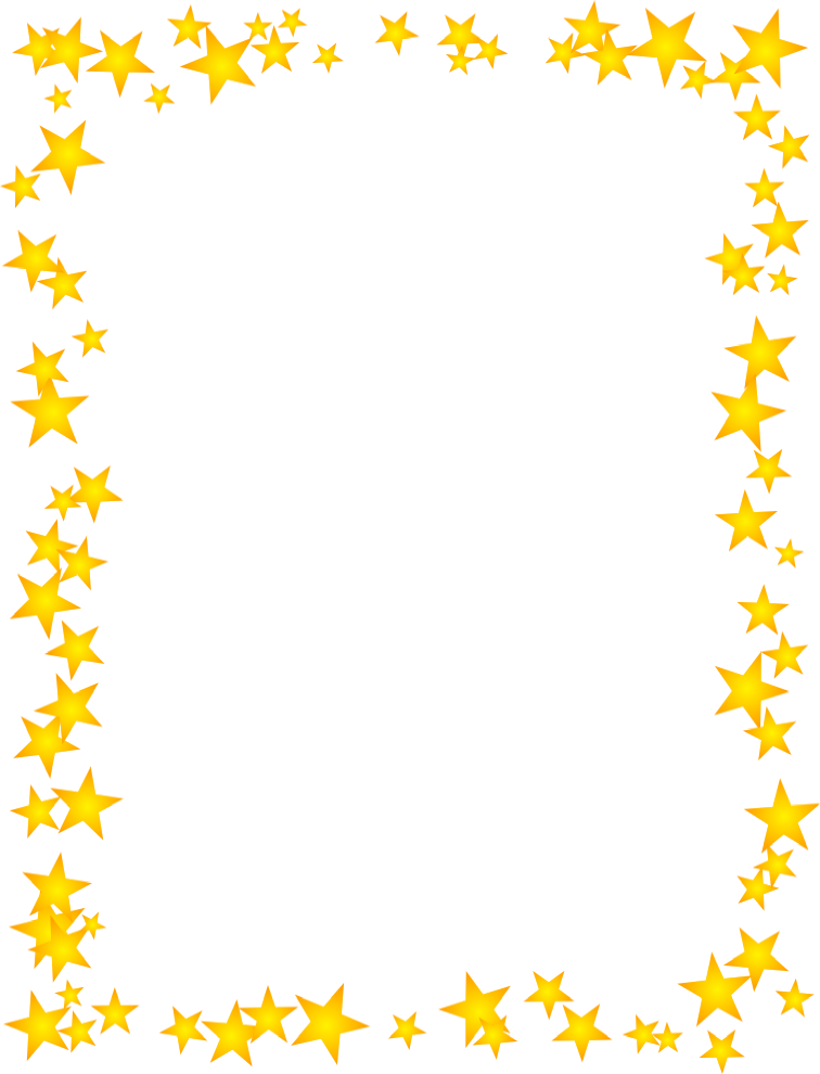 Hd clipart star clipart black and white download Gold Stars Scattered Border | Free Borders And Clip Art.com clipart black and white download