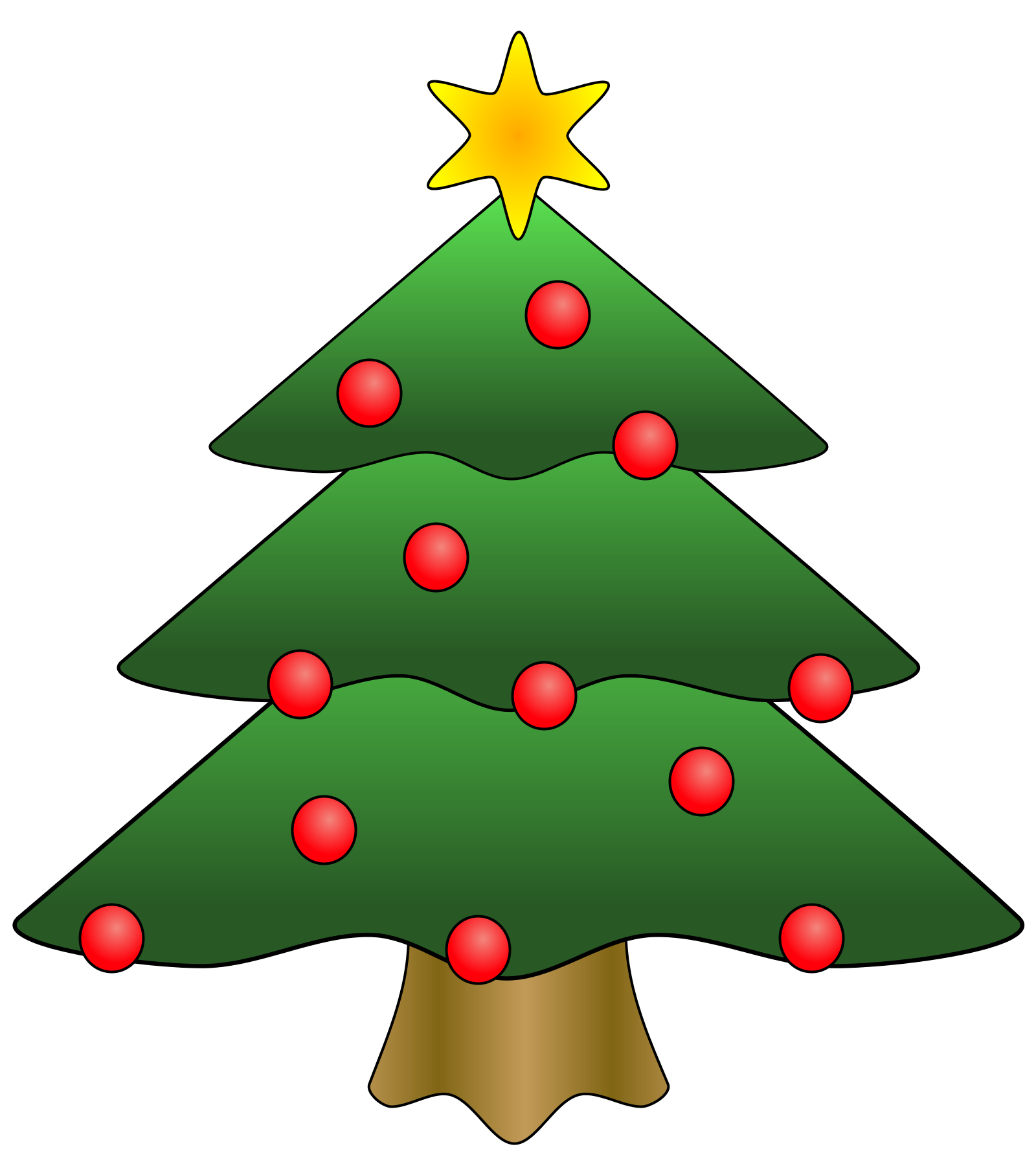 Christmas tree star clipart banner free stock Free clipart google tree - ClipartFest banner free stock