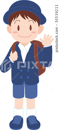 Free clipart grade school students in uniforms clip freeuse Elementary school uniform - Stock Illustration [30539211] - PIXTA clip freeuse