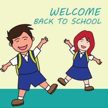 Free clipart grade school students in uniforms freeuse library Welcome Back To School Cartoon Concept Vector Illustration, School ... freeuse library