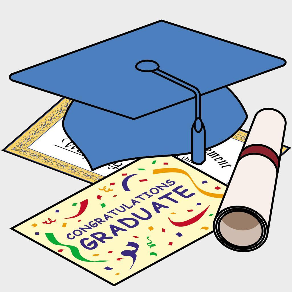 Free clipart graduation cap and diploma vector transparent download Graduation Cap And Diploma Clipart Qtbakgnyc - Clipart1001 - Free ... vector transparent download
