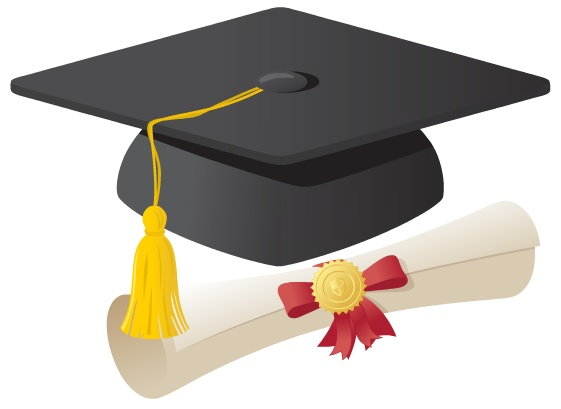 Free clipart graduation cap and gown.  clipartlook