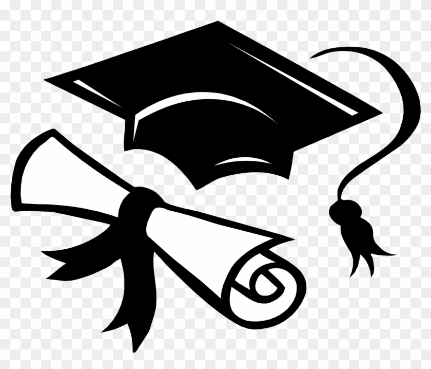 Graduation sash clipart clip art black and white Picture Stock Cap Gown Free On Dumielauxepices Net - Transparent Cap ... clip art black and white