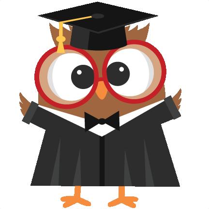 Free graduation owl clipart. Svg scrapbook cut file