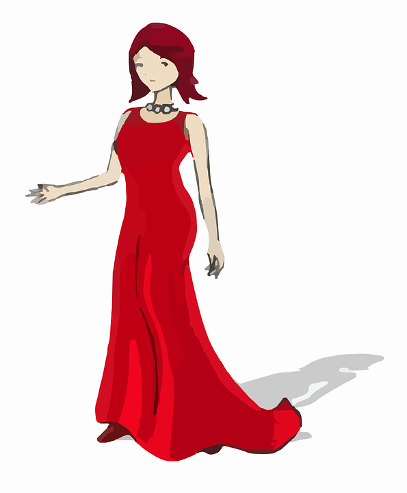 Free clipart graphics woman svg transparent library Free vector graphic: Lady, Woman, Red, Fashion, Women - Free Image ... svg transparent library