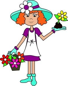 Free clipart graphics woman clipart black and white library women clip art free | Gardening Clip Art Images Gardening Stock ... clipart black and white library