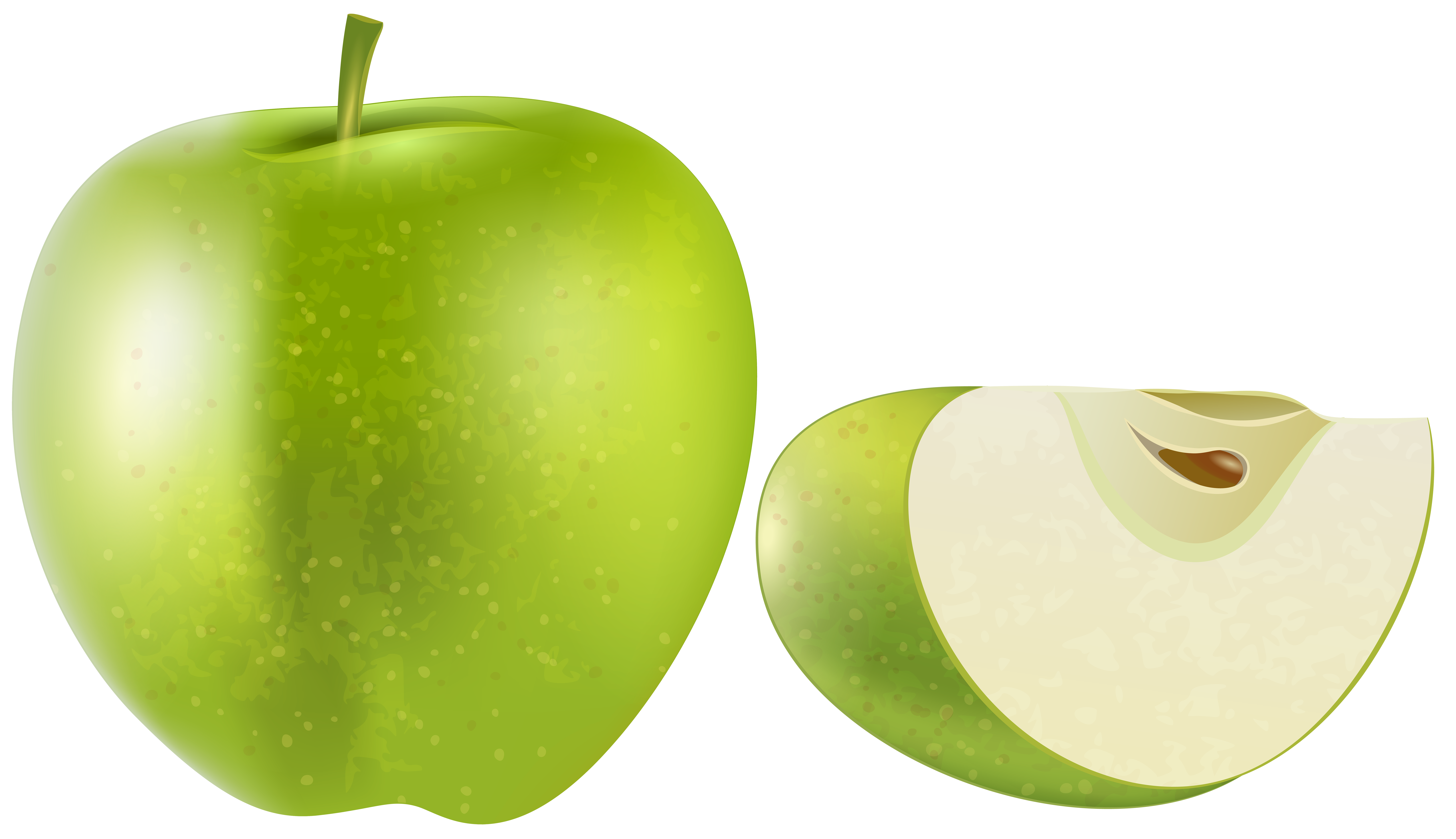 Green apple clipart transparent graphic library library Green Apple Transparent PNG Clip Art Image | Gallery Yopriceville ... graphic library library