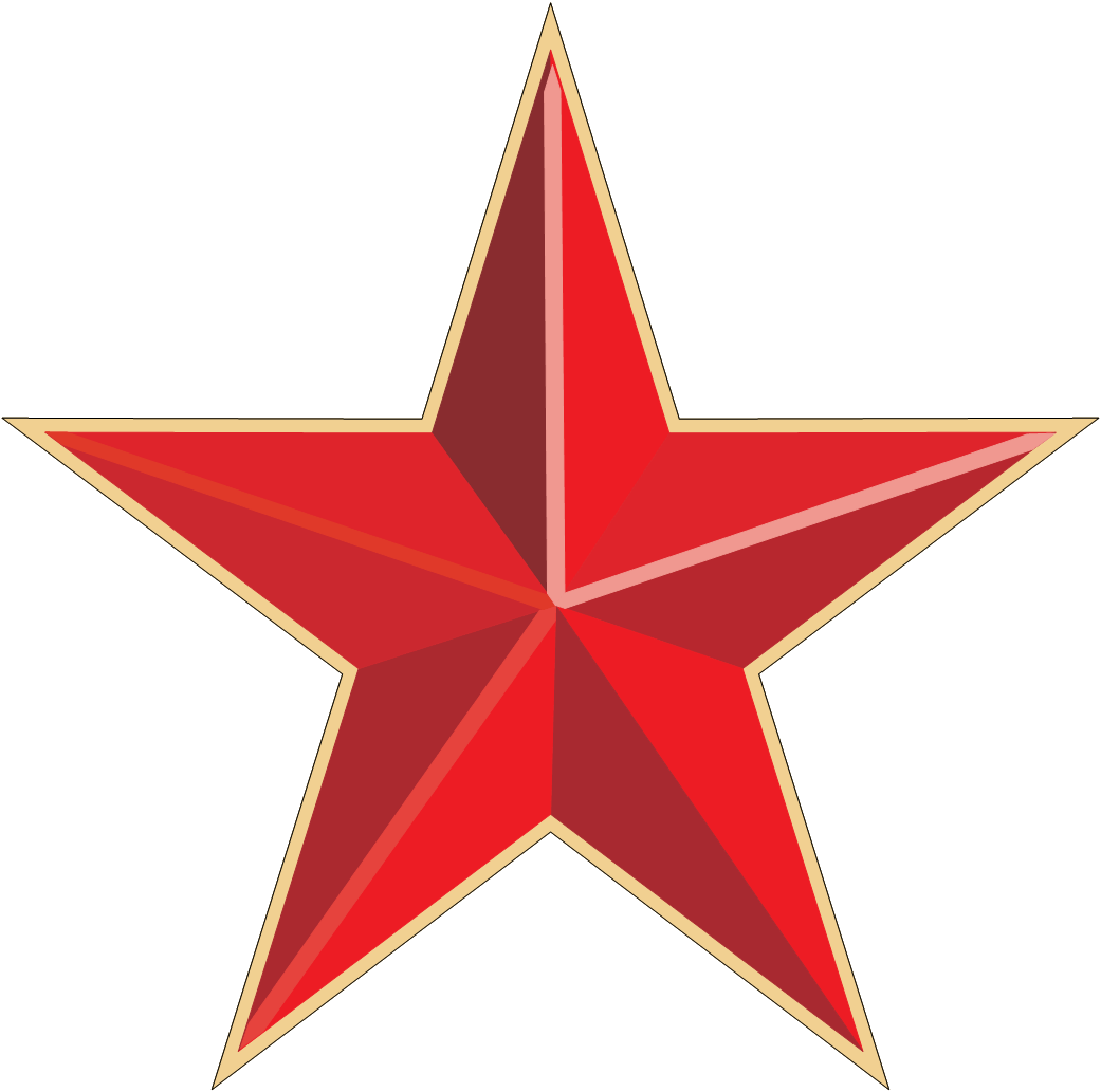 Free clipart grunge red star png stock Red Gold Star transparent PNG - StickPNG png stock